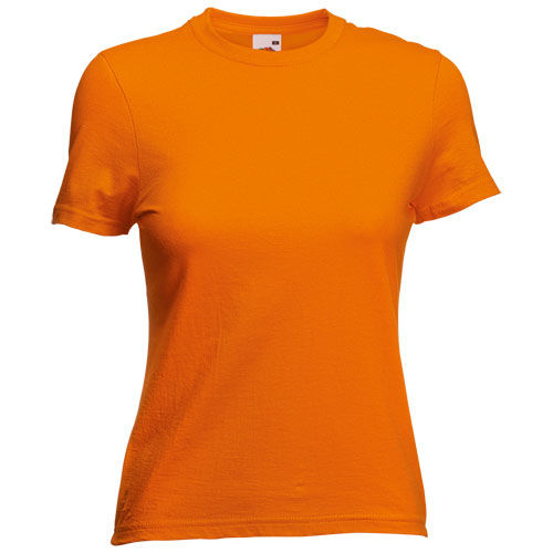 Camiseta Mujer Color VALUEWEIGHT. NARANJA TALLA S