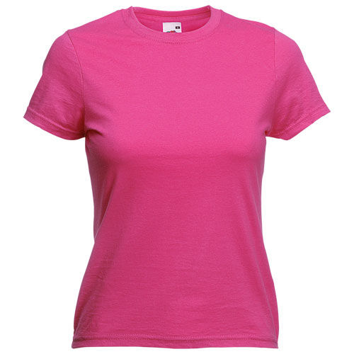 Camiseta Mujer Color VALUEWEIGHT. FUCSIA TALLA S
